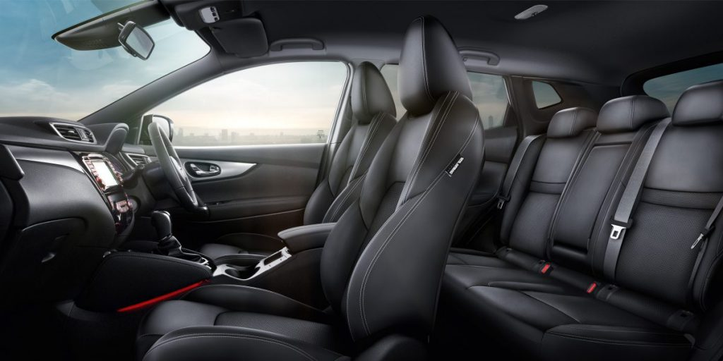The interior view of a Nissan Qashqai