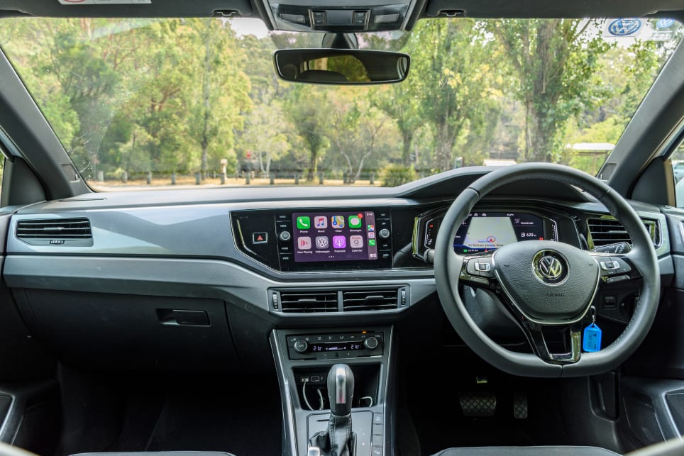 Interior view from inside the Volkswagen Polo