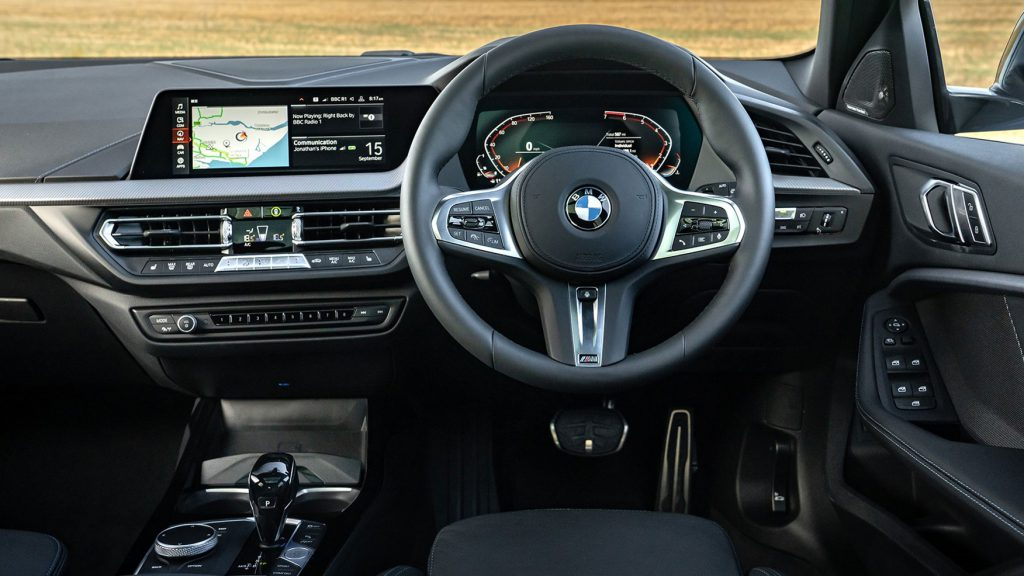 Interior of a BMW with a new windscreen replacement