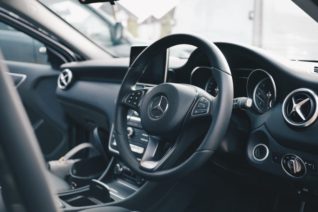 Interior view of a Mercedes