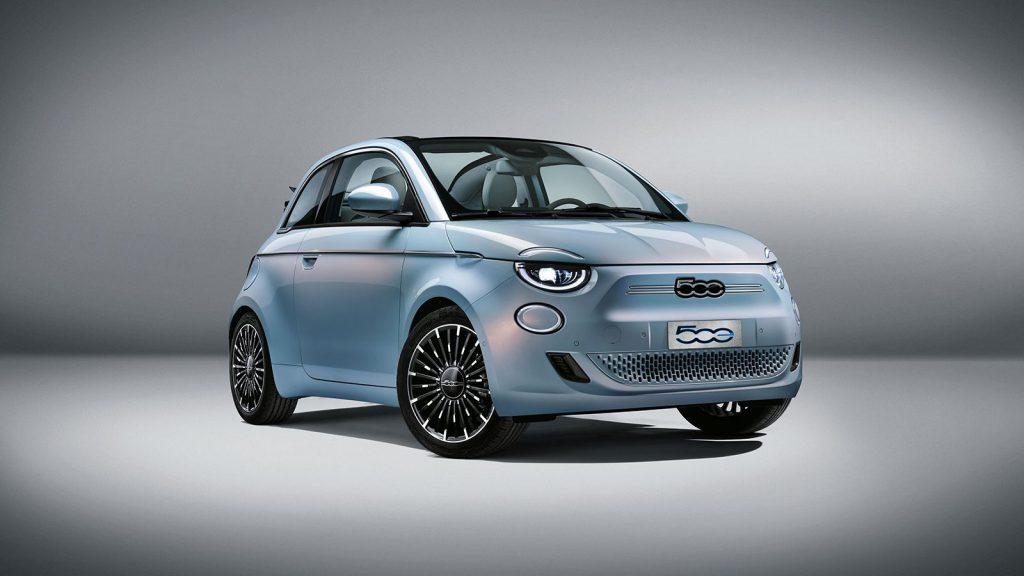 Sky Blue Fiat 500 Concept