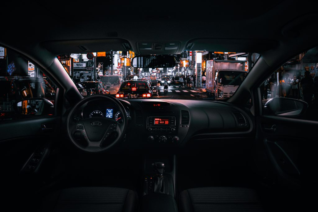 Interior windscreen view