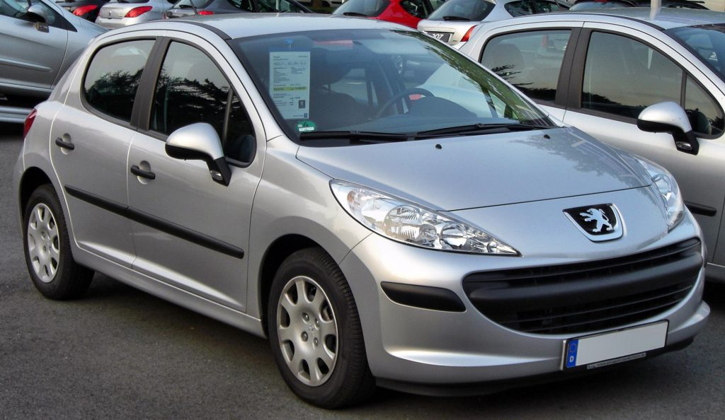 Grey Peugeot 207 after a  Windscreen Replacement