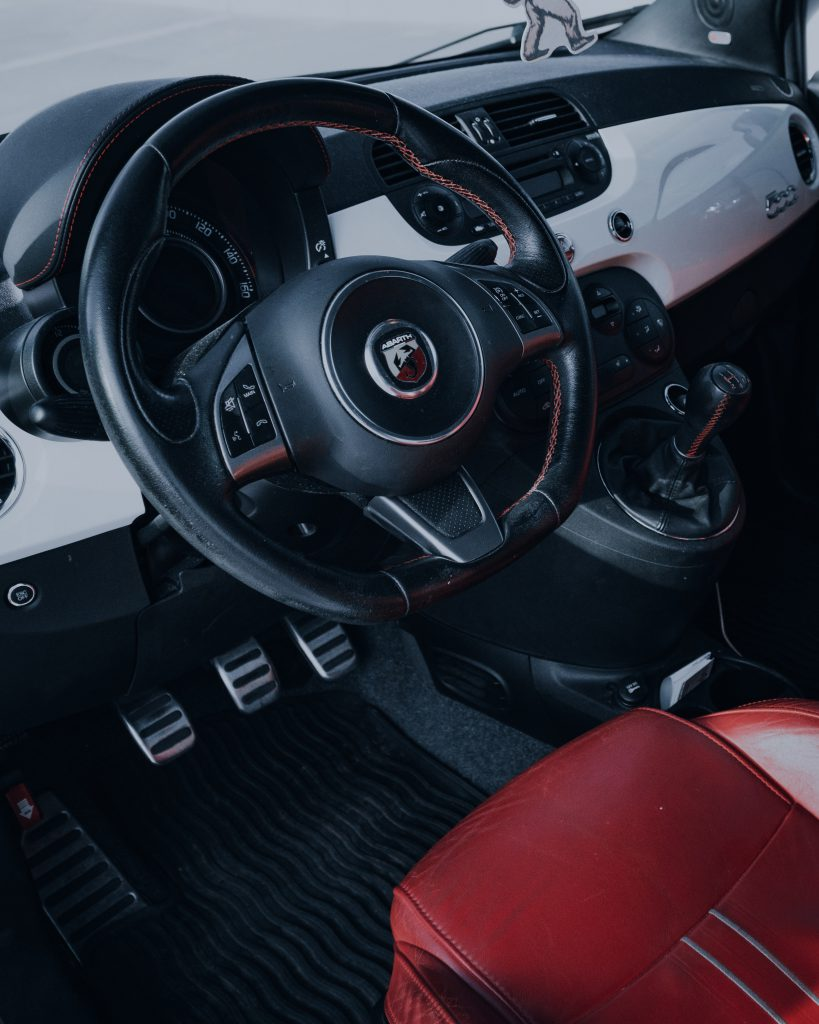 Interior view of a Fiat 500