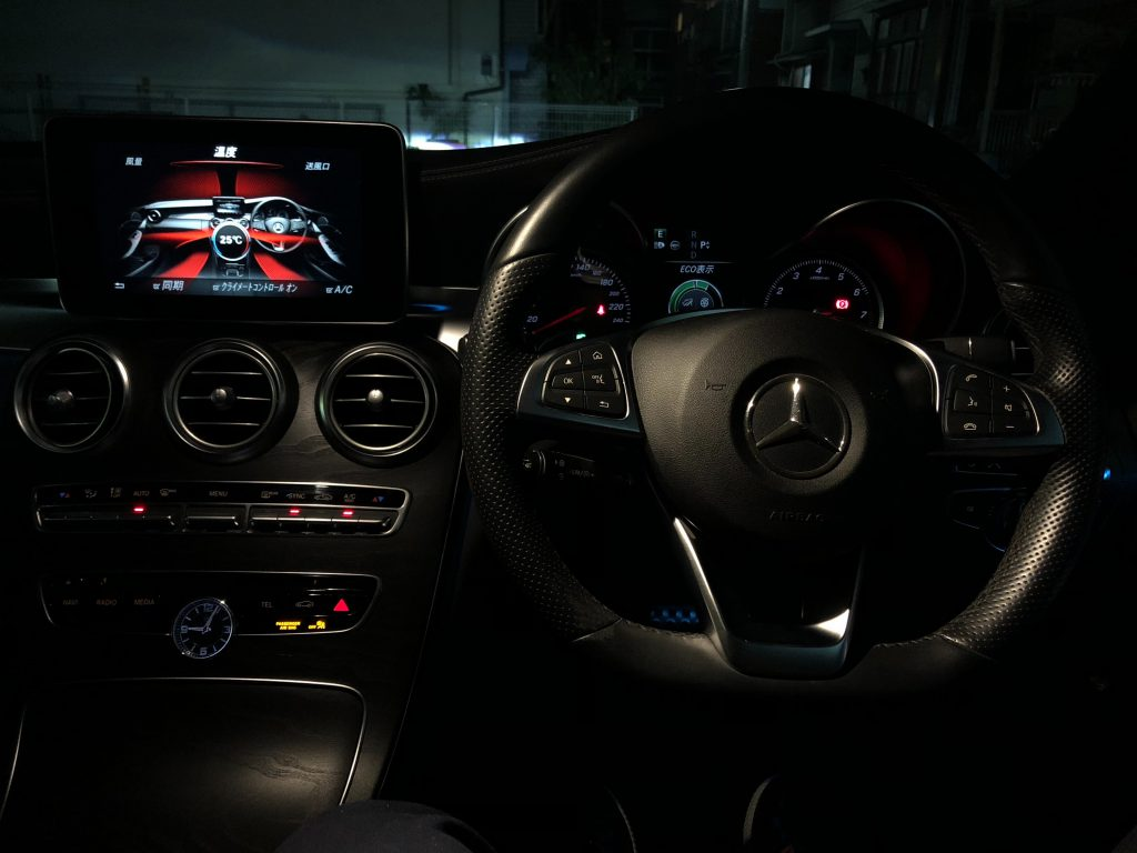 Interior of a Mercedes C-Class