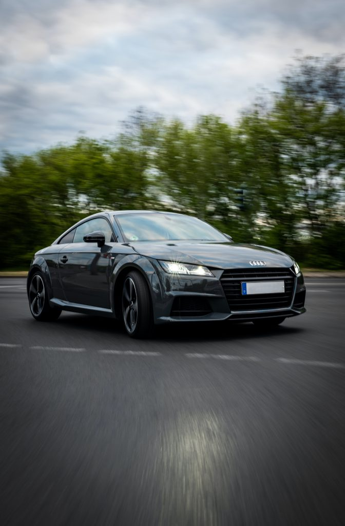 Black Audi TT outside after new windscreen replacement