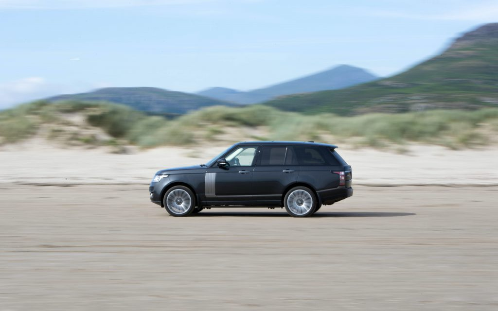 Land Rover Discovery driving on the open road