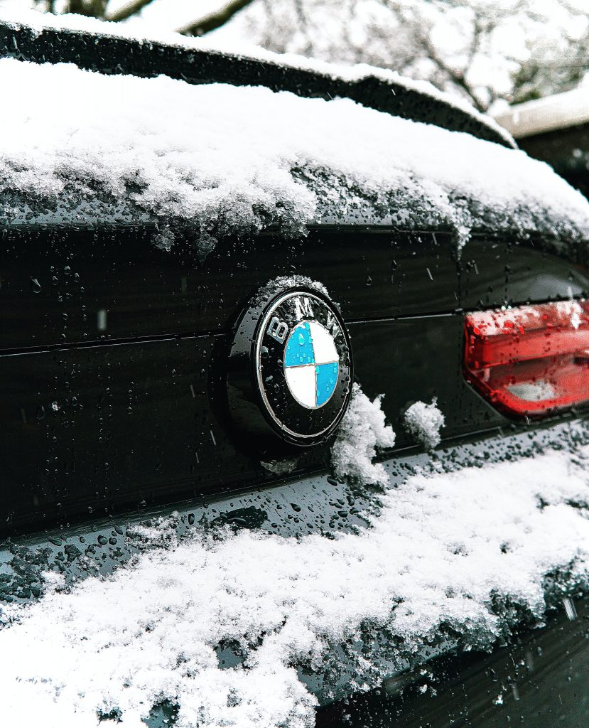 A BMW X3 with frost and ice potentially damaging its Car Glass.