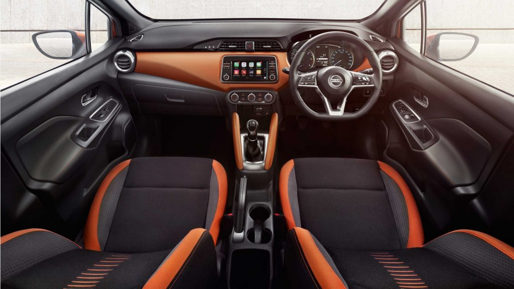 Interior of Nissan Micra